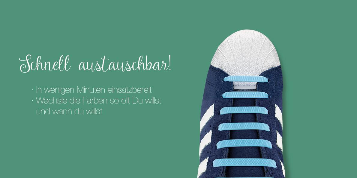 Elastische Schnürsenkel aus Silikon Xunits